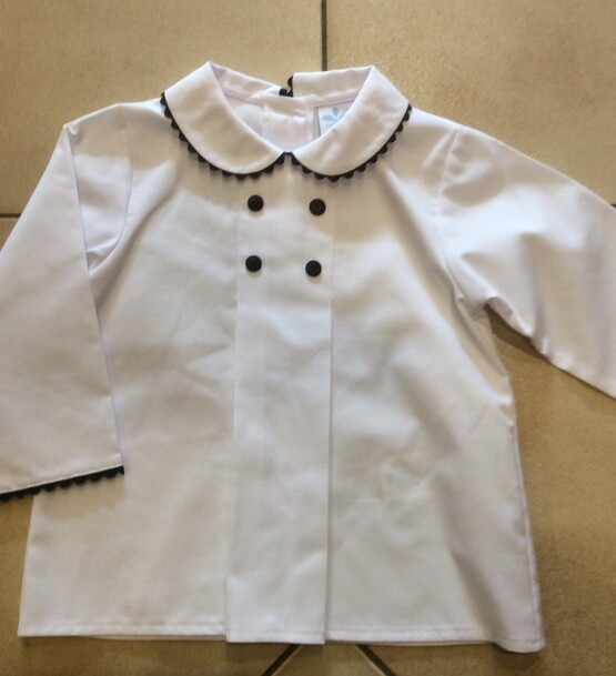 Peter Pan Collar Shirt or Blouse by Spanish Brand Sardon