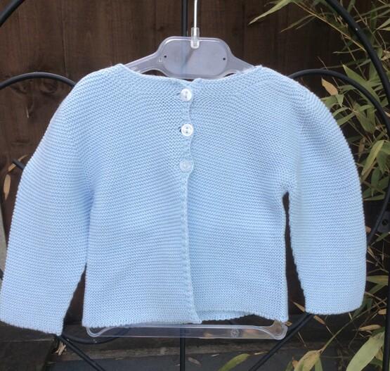 Babidu Baby Pale Blue 100% Cotton Cardigan