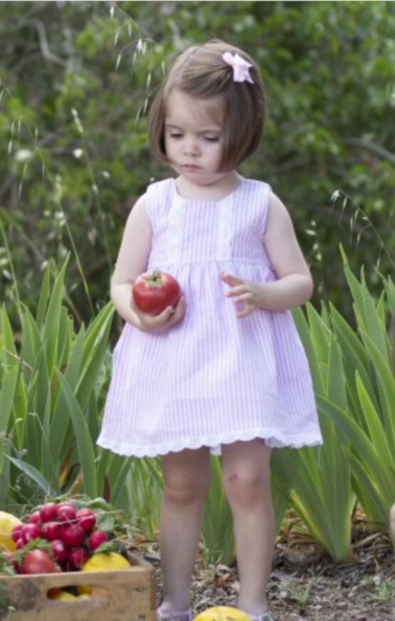 Babidu Candy Stripe Summer Spanish Dress Ref 91403