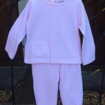 Babidu Baby 2 Piece Pink Trackie Set –  Round Neck
