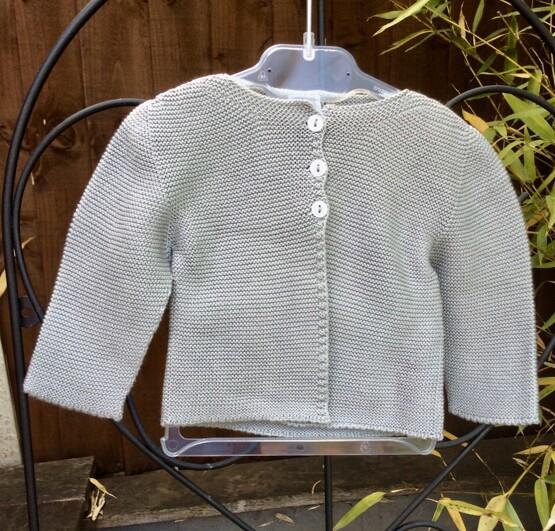 Babidu Baby Steel Grey 100% Cotton Cardigan