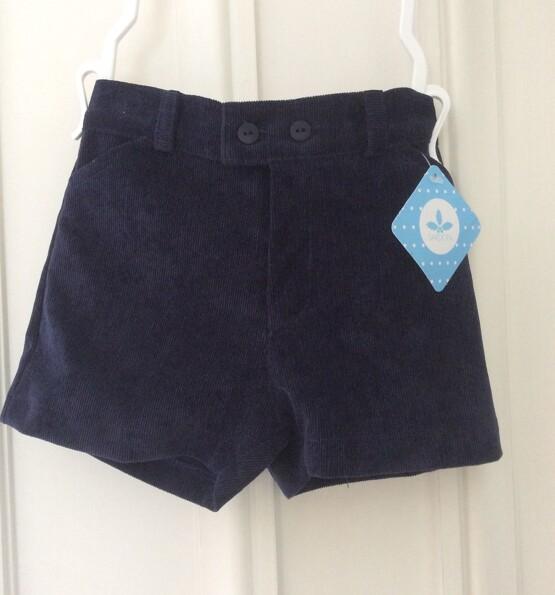 Baby Boys Navy cord  Shorts