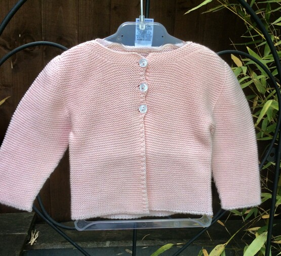 Babidu Baby Peachy Pink 100% Cotton Cardigan