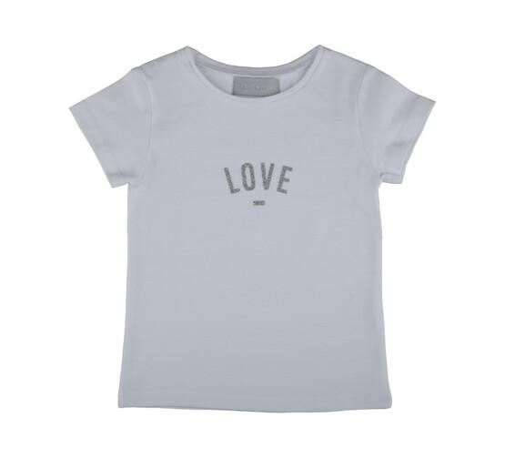 Bob & Blossom White LOVE Tee Shirt for Girls