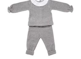 Babidu Frill Collar Grey Set
