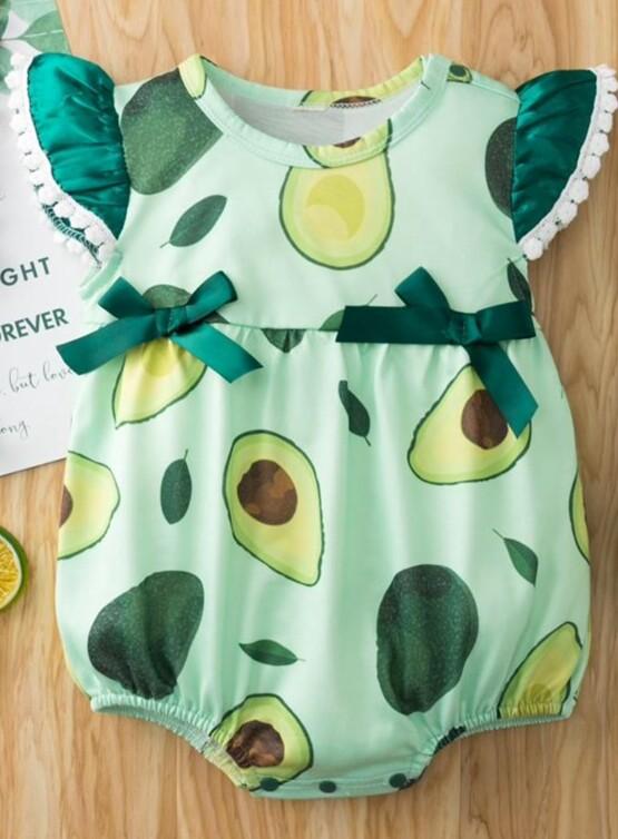 Avocado Shortie Cotton Romper